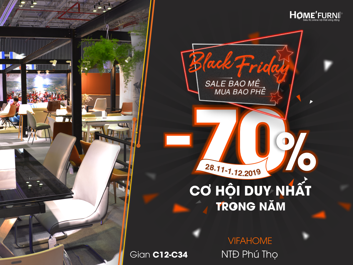 Thư mời Vifa Home 2019 - BLACK FRIDAY