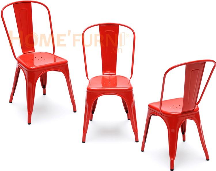 Mẫu ghế thép sơn tĩnh điện Tolix