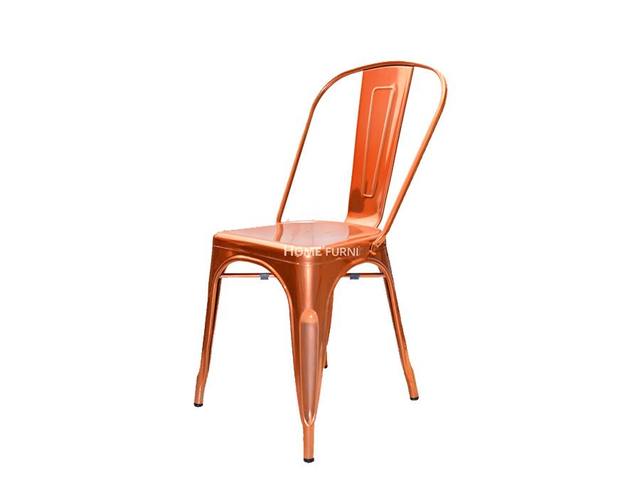 Mẫu ghế Tolix A thép màu vàng hồng